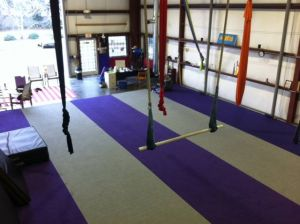 Aerial Fit door opened on a beautiful day.