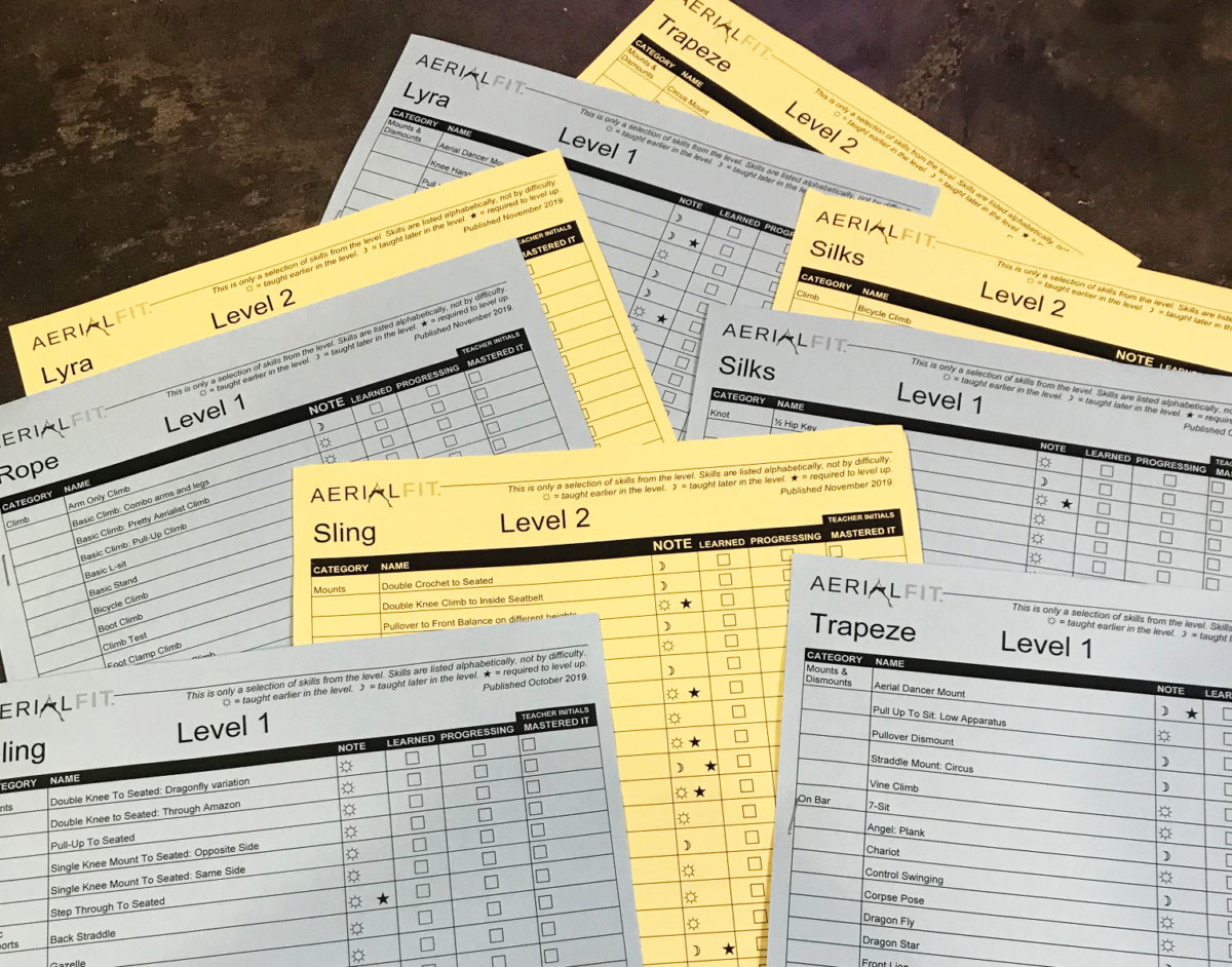 Aerial Fit Skill Sheets